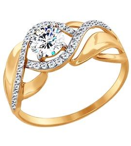 Кольцо из золота с фианитами 017424