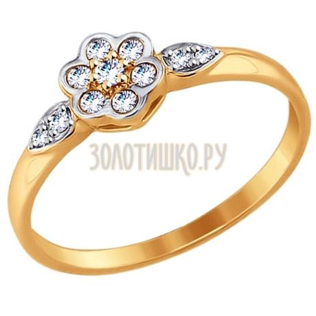 Кольцо из золота с фианитами 017497