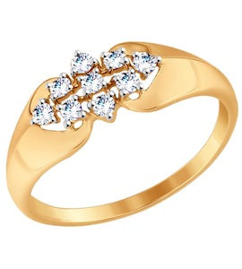 Кольцо из золота с фианитами 017499