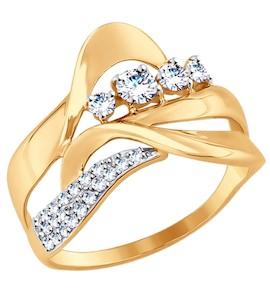 Кольцо из золота с фианитами 017510