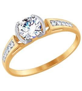 Кольцо из золота с фианитами 017524
