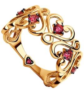 Кольцо из золота с фианитами 017535