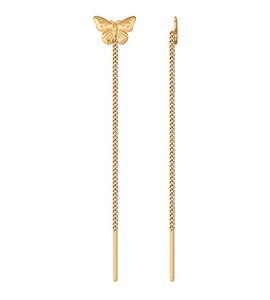 Серьги-цепочки из золота 022412