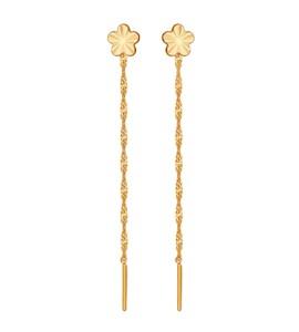 Серьги-цепочки из золота 024389