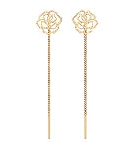 Серьги-цепочки из золота с алмазной гранью 024813