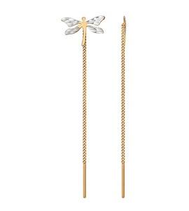 Серьги-цепочки со стрекозой 025370