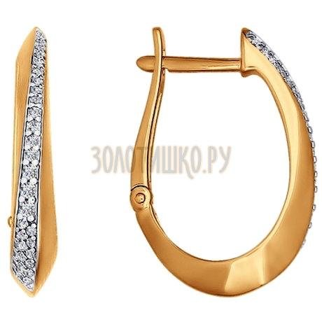 Серьги из золота с фианитами 026343