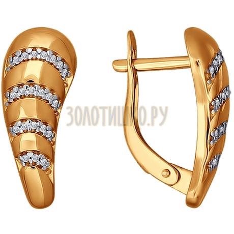 Серьги из золота с фианитами 026537