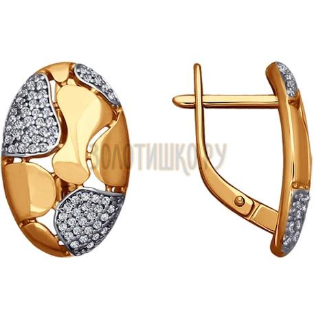 Серьги из золота с фианитами 026565