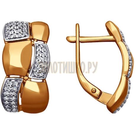 Серьги из золота с фианитами 026566
