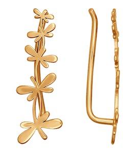 Серьги со стрекозами из золота 026583
