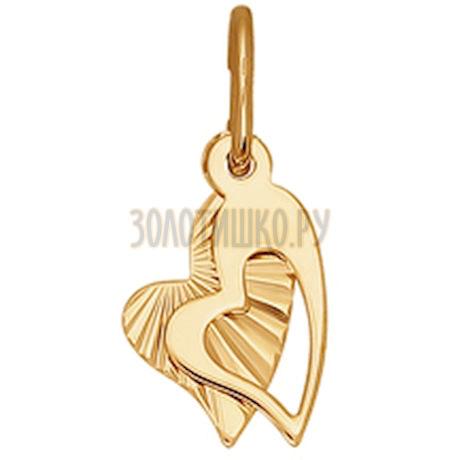 Подвеска из золота с алмазной гранью 030863