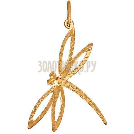 Подвеска из золота с алмазной гранью 033036