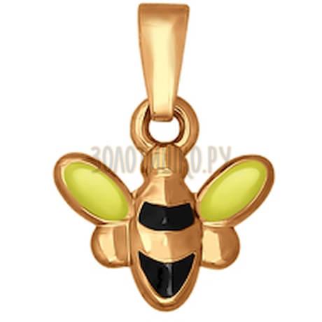 Золотая подвеска «Пчёлка» 033070