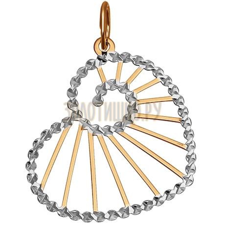 Подвеска из золота с алмазной гранью 033253