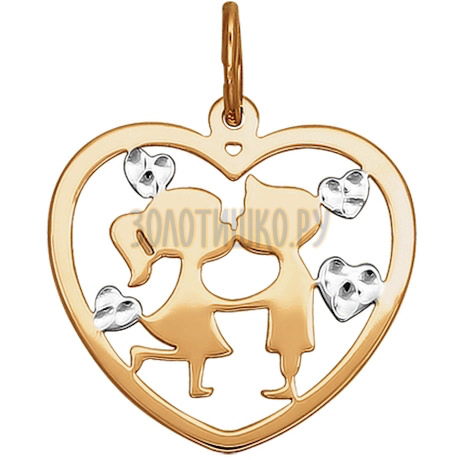 Подвеска из золота с алмазной гранью 033644