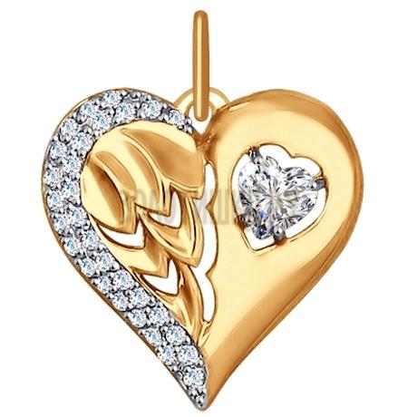 Подвеска из золота с фианитами 035172