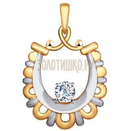 Подвеска из золота с фианитом 035182