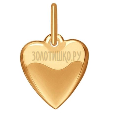 """Подвеска """"Сердце"""" из золота 035184"""