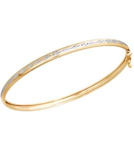 Браслет жёсткий из золота с алмазной гранью 050364