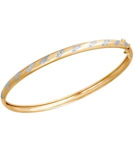 Браслет жёсткий из золота с алмазной гранью 050365