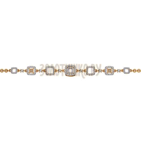 Браслет из золота с фианитами 050828
