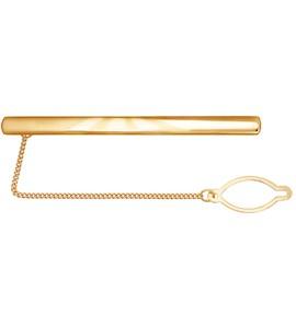 Классический мужской зажим для галстука из золота 090010