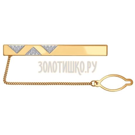 Зажим для галстука из красного золота 090044