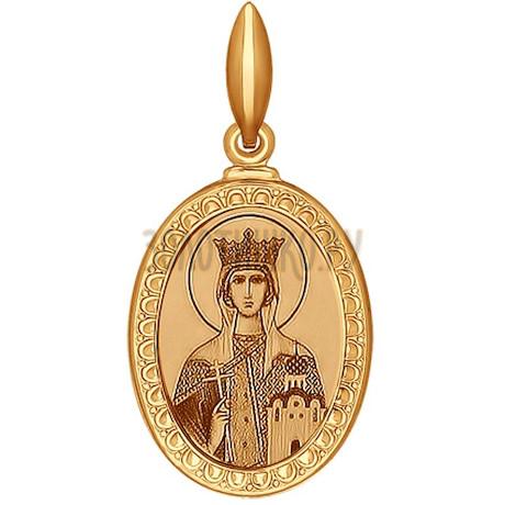 Иконка из золота с лазерной обработкой 100966