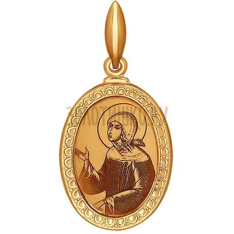 Иконка из золота с лазерной обработкой 100968