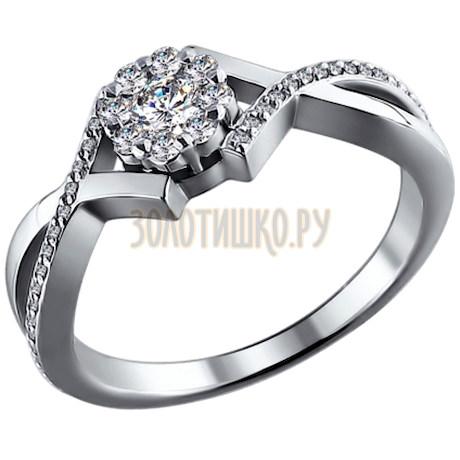 Кольцо из белого золота с бриллиантами 1010505