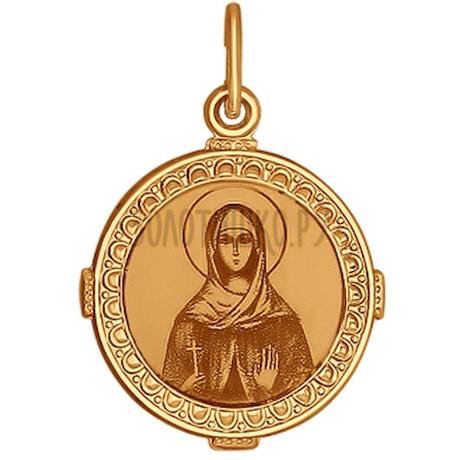Иконка из золота с лазерной обработкой 101072