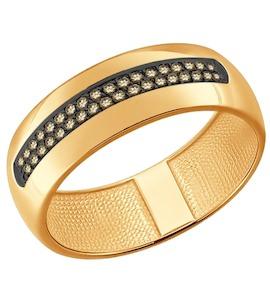 Кольцо из золота с коньячными бриллиантами 1011645