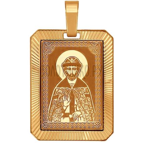 Иконка из золота с алмазной гранью и лазерной обработкой 101561
