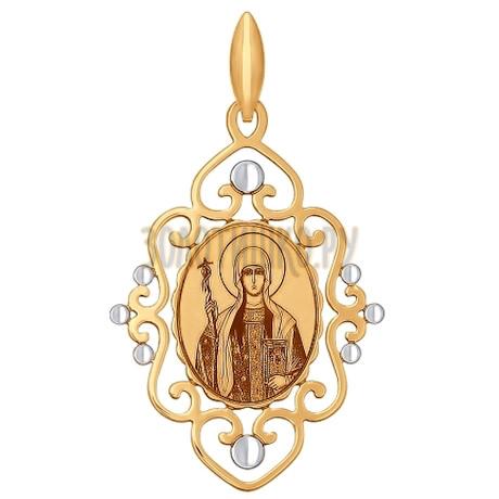 Иконка из золота с алмазной гранью и лазерной обработкой 101736
