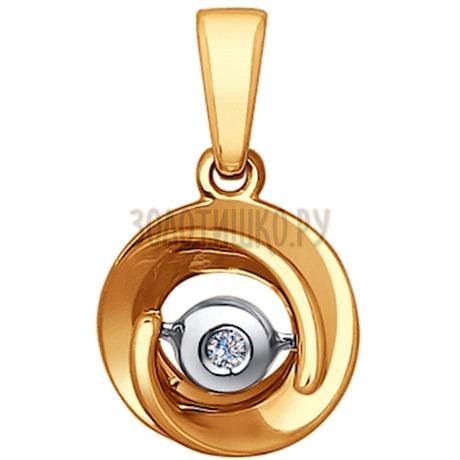 Подвеска из комбинированного золота 1030558