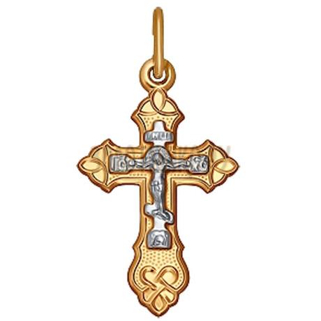 Крест из комбинированного золота 120119