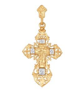 Женский крестик из золота 120189
