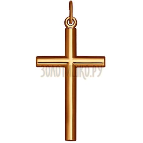 Лаконичный крест из золота 121254