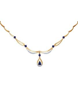 Колье из золота с бриллиантами и сапфирами 2070007