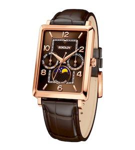Мужские золотые часы 233.01.00.000.07.02.3