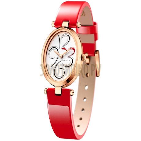 Женские золотые часы 235.01.00.000.03.06.2