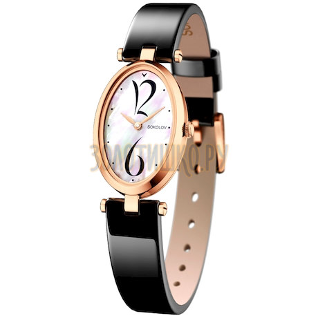 Женские золотые часы 235.01.00.000.05.04.2