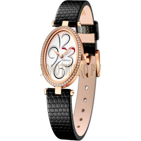 Женские золотые часы 236.01.00.001.03.01.2