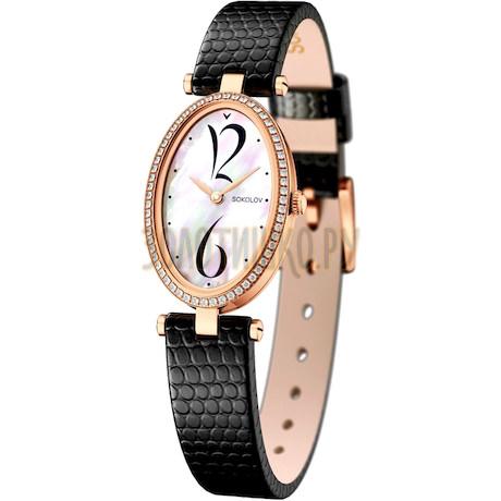 Женские золотые часы 236.01.00.100.05.01.2