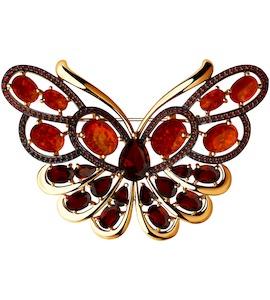 Брошь «Бабочка» из золота 740167