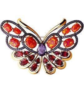 Золотая брошь «Бабочка» 740168
