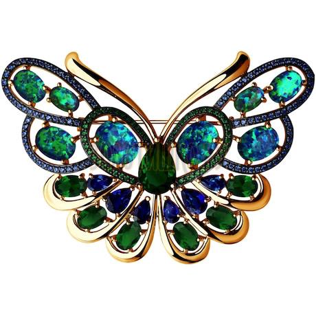 Брошь в форме бабочки из золота 740171