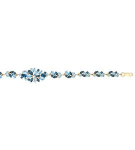 Браслет из золота с голубыми и синими топазами 750257