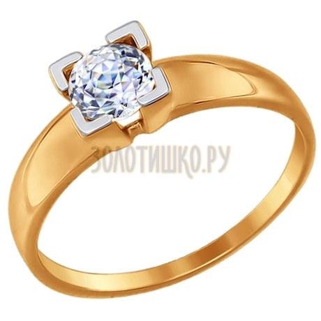 Кольцо из золота со Swarovski Zirconia 81010302